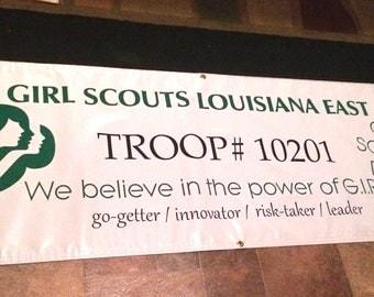 Custom Girl Scout Troop Banner