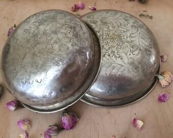 Antique Matching Pair  Authentic  Moroccan Hammam (Oriental bathhouse )Bowls.