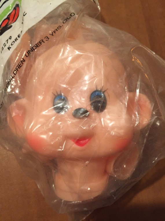 Vintage Happy Monkey Doll Head with Hands and Feet Dollmaking Supplies NOS H7