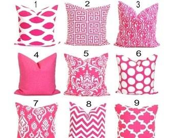 PINK PILLOW SALE.16x16 inch Decorative Pillow Cover.Pink Pillows. Pink Cushion.Throw Pillow. Accent Pillow, Couch Pillow.Sofa Pillow Bedding