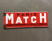 Vintage advertising. Paris Match enameled advertising