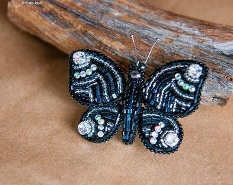DIY beautiful Butterfly brooch PDF+video detailed tutorial