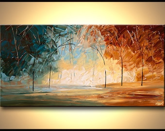 Canvas Print - Stretched, Embellished & Ready-to-Hang  - Landscape - Art by Osnat