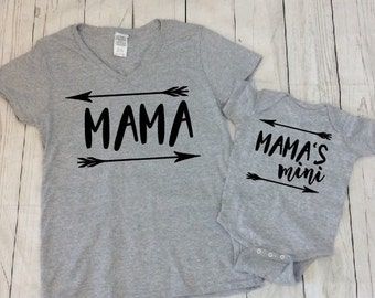 Mama and Baby Girl Matching Shirts - Mom and Mini Matching - Mother Daughter Shirts