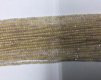 Golden Rutilated Rondelles Faceted
