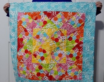 Quilt Granny Square small play quilt stroller size photo prop hygge easter