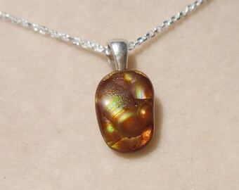 Mexican Fire Agate Pendant with Sterling Silver 1.3MM Beveled Cable Chain 16 Inches