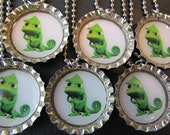 7 Tangled  Pascal Bottle Cap Party favors (6)