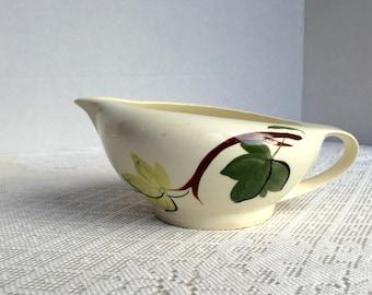 Green Ivy Gravy Boat by Blue Ridge Pottery /  China Gravy Boat