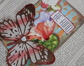 """ACEO ATC one-of-a-kind Original """"Be Kind"""" Artist Trading Card on a Playing Card"""