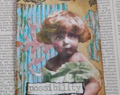 """ACEO ATC one-of-a-kind Original """"Possibility"""" Artist Trading Card"""