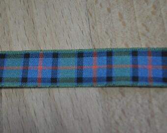Tartan Ribbon. Flower of Scotland. Various widths available. 16mm & 25mm. Price per metre
