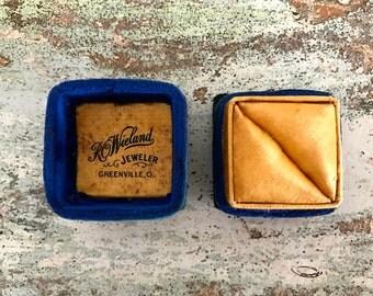 Antique vintage ring box