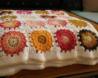 granny blanket *tropical flowers*