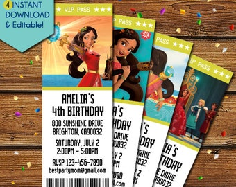 Elena of Avalor Invitation, Elena of Avalor Birthday Invitation, Elena of Avalor Invite, Elena of Avalor Party Invitation, Elena invitation