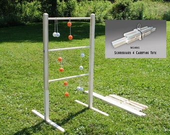 Wooden Ladder Ball Game - Personalized gift ladderball game Ladder toss yard games wooden ladder golf kids games wedding gift wedding game