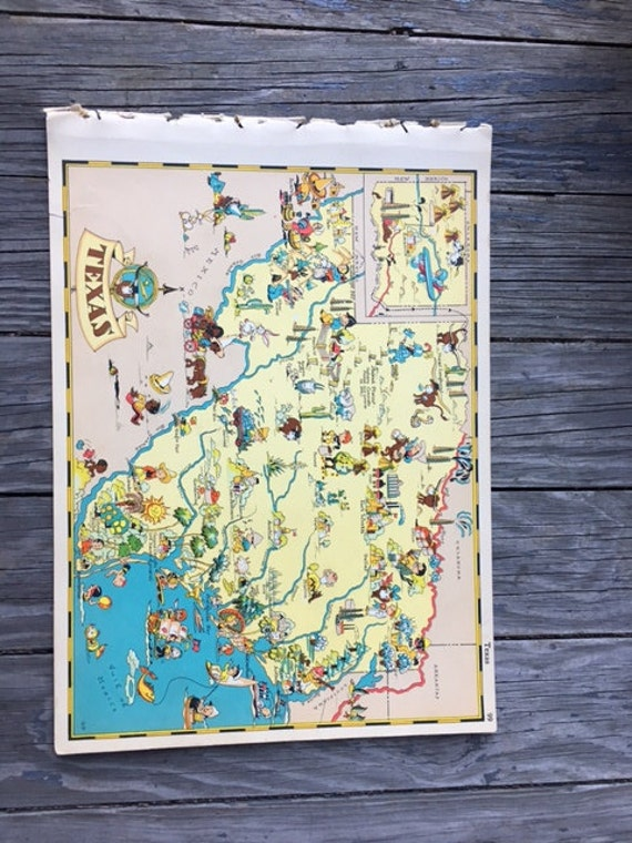 Items Similar To Texas Antique Map: Items Similar To Texas Map / Travel Wall Decor / Old Map