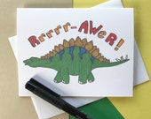 Birthday Cards| Dinosaur Birthday Cards| Stegosaurus| Dinosaurs| Cards for Him| Cards for Guys| Cards for Boys| Dinomite| Greeting Cards