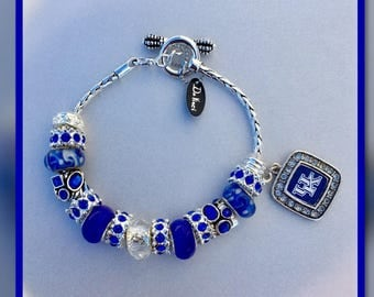 European Charm Bracelet, European Style, University of KY Wildcat Charm Bracelet, DaVinci Fashion Jewelry
