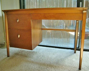 Mid Century Modern Drexel Profile desk by John Van Koert vintage American walnut furniture 1960's