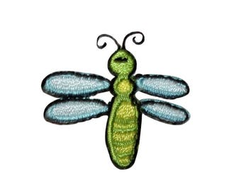 ID 0474Z Lot of 3 Dragonfly Bug Patch Garden Flying Embroidered Iron On Applique