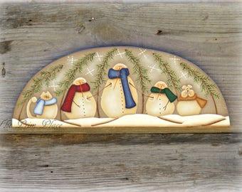 Primitive Snowman Door Crown ~ Snowman Door Topper ~ Snowman Decor ~ Winter Decor ~ Winter Wall Hanging ~ Christmas Decor ~ Home Decor