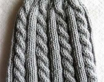 Gray Skies Cable Hat
