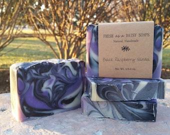 Black Raspberry Vanilla, Natural Handmade Soap, Cold Process, Vegan