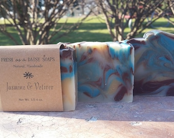 Jasmine & Vetiver, Natural Handmade Soap, Cold Process, Vegan