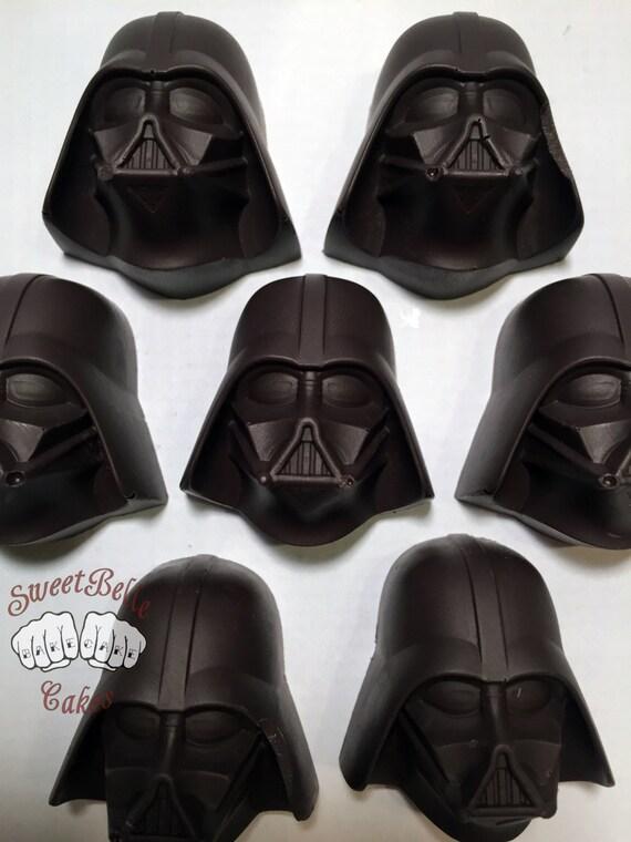 Darth Vader Chocolates. One dozen solid vanilla chocolates. Star Wars. Made to order.