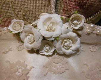 Vintage Bridal hanger Hand Made, Embellished Wedding, Bridal Shower, Lingerie, Prom, Padded, Pale Dusty Rose Decorated, One of a Kind