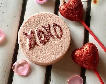 25% off xoxo Bath Bomb, Wine & Roses Bath Bomb, Valentines Bath Fizzies, Shower Fizzies, Valentines Gift for her, Love Bath Bomb, Romantic B