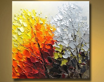 Original Abstract Painting Modern Thick Textured Painting Impasto Landscape Textured Modern Palette Knife Painting, on Canvas by Chen 0304