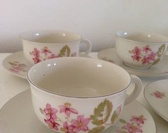 Arzberg Germany porcelain cups and saucers 4x