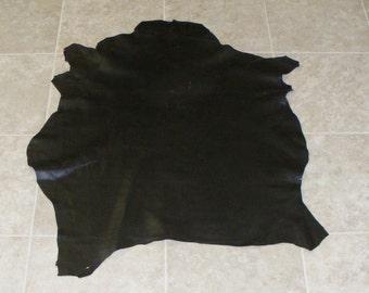 RWE7425-7) Hide of Dark Brown Lambskin Leather Skin
