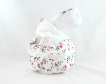 Japanese Knot Bag Short Handle Cottage Chic