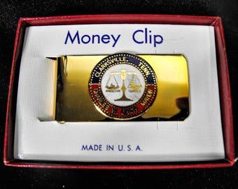 Vintage Money Clip - Clarksville Tennessee Money Clip, Pocket Bill Clip, Retro Money Clip, Vintage Pocket Bill Clip, Mens Bill Clip