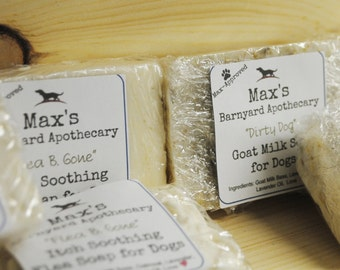 "Max's ""Flea B. Gone"" Goatmilk Soap"