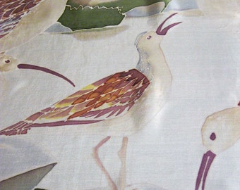 Silk scarf hand painted with birds Wearable art Unisex - made TO ORDER