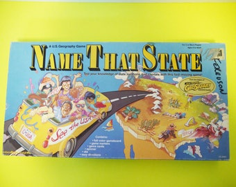 Vintage Name That State Board Game A US Geography Game