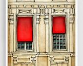 30% OFF SALE: Paris centre - Paris illustration Fine art illustration Art Poster Paris art Paris decor Travel poster Wall art Cityscape Faca