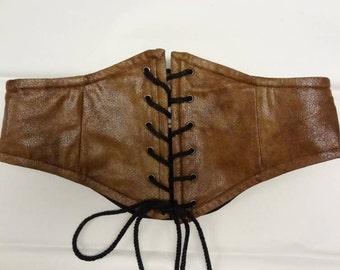CHOOSE-YOUR-OWN Fabric Custom Faux Suede Waist Cincher