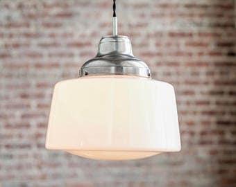 Pendant Lights - Schoolhouse Pendant -  Hanging Pendant Light - Industrial Shade Pendant - Retro - Mid Century Modern