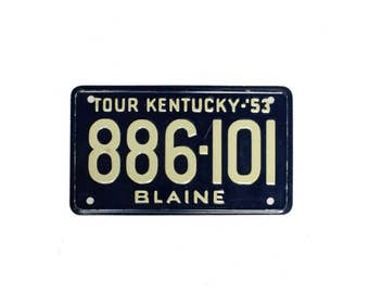 Vintage Collectible Mini License Plates