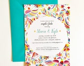 Mexican Fiesta Themed Shower Invitations