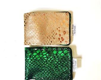 Leather Minimalist Mermaid Wallet