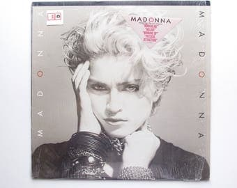 Madonna Record - Self Titled LP - 1982 - Borderline, Lucky Star, Holiday - Vintage Madonna Record