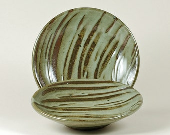 Lovers' Lunch Plates, celadon glaze