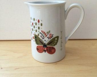 Vintage Georges Briard Butterflies & Flowers Creamer