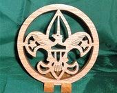 Handcrafted oak Boy Scout Emblem